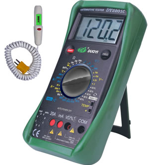 Automotive Meter & Infrared thermometer DY2201C