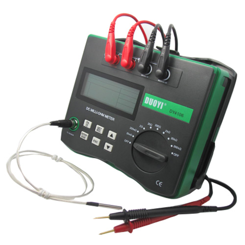 DY4106 Low resistance tester with temperature compensation